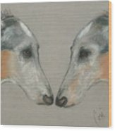 Nose To Nose Wood Print