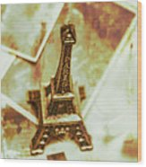 Nostalgic Mementos Of A Paris Trip Wood Print