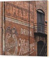Nostalgic Painted Advertising Wood Print