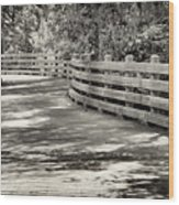 Nostalgic Pathway Wood Print