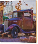 Nostalgic Rusty International Pickup Wood Print