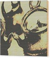 Nostalgic Tea Break Wood Print