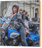 Not-a-cop In Jackson Square Nola Wood Print
