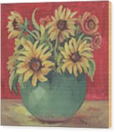 Not Just Sunflowers Wood Print