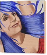 Not Your Typical Little Blue Haired Old Lady Wood Print