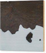 Notan On Creek Wood Print