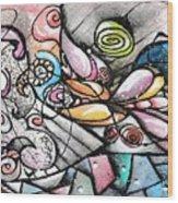 Note Card Art Wood Print