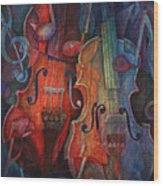 Noteworthy - A Viola Duo Wood Print