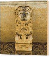 Noto, Italy - Detail Of Baroque Balcony, 1750 Wood Print