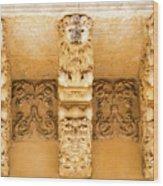 Noto, Sicily, Italy - Detail Of Baroque Balcony, 1750 Wood Print