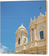 Noto, Sicily, Italy - San Nicolo Cathedral, Unesco Heritage Site Wood Print