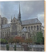 Notre Dame Cathedral In Paris, France Wood Print