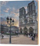 Notre Dame Cathedral Paris 2.0 Wood Print
