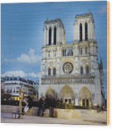Notre Dame Cathedral Paris 3 Wood Print