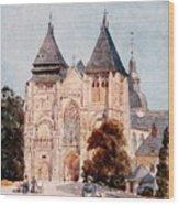 Notre Dame De La Couture Wood Print