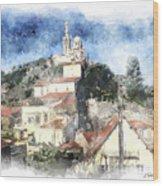 Notre Dame De La Garde-marseille Wood Print