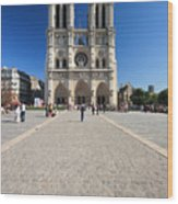 Notre Dame De Paris Cathedral Wood Print