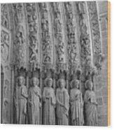 Notre Dame Doorway Detail Paris France Wood Print