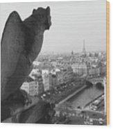 Notre Dame Gargoyle Wood Print