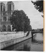 Notre Dame Wood Print