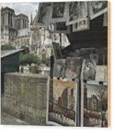 Notre Dame Street Art Wood Print