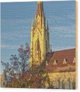 Notre Dame University Basilica Of The Sacred Heart Wood Print