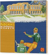 Notre Dame Versus Minnesota 1938 Program Wood Print