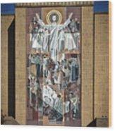 Notre Dame's Touchdown Jesus Wood Print