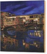 Notturno Fiorentino Wood Print