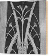 Nouveau Flower Wood Print