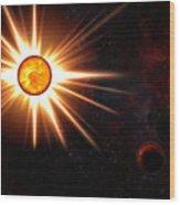 Nova And Dead Star Wood Print