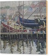 Nova Scotia Boats At Rest Wood Print