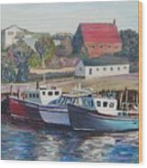 Nova Scotia Boats Wood Print