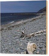 Nova Scotia Pebble Beach Wood Print