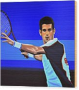 Novak Djokovic Wood Print by Paul Meijering