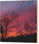 November 2016 Sunrise Wood Print