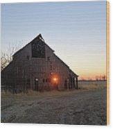 November Barn Wood Print
