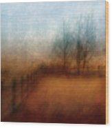 November Field Wood Print