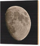 November Moon - Photograph Wood Print