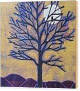 November Moon Flash Wood Print