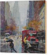 November Rain Wood Print