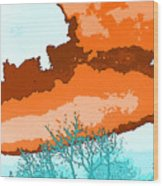 November Sky Wood Print