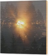 November Sunrise - 1 Wood Print