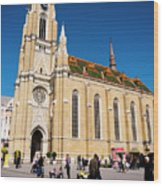 Novi Sad Cathedral Wood Print