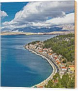 Novigrad Dalmatinski Fishermen Village Bay Wood Print