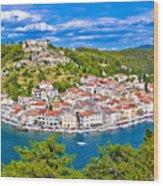Novigrad Dalmatinski Waterfront And Bay View Wood Print
