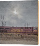 Ns 8104 Lehigh Valley At Booneville In Wood Print