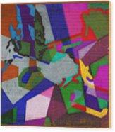 Nu Wall Graffiti Horns In The Landscape Of Sound/tony Adamo Wood Print