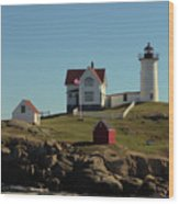 Nubble Light 4 Wood Print