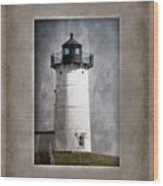 Nubble Light Maine Wood Print by Carol Leigh